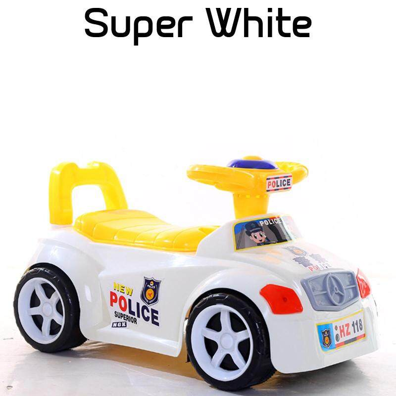 NaVa Children Music LED Cartoon Police Car Kids Ride On Scooter Toys Set Toys for boys Singapore