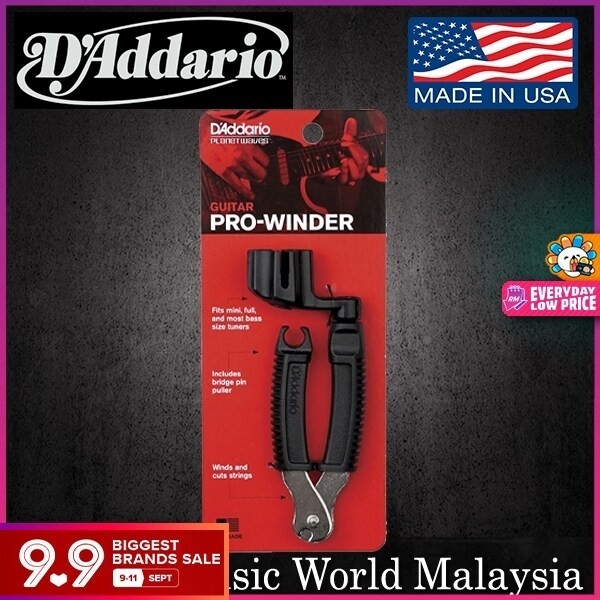 Daddario DP0002 Pro Winder String And Cutter For Acoustic Electric Guitar (DP 0002) Malaysia