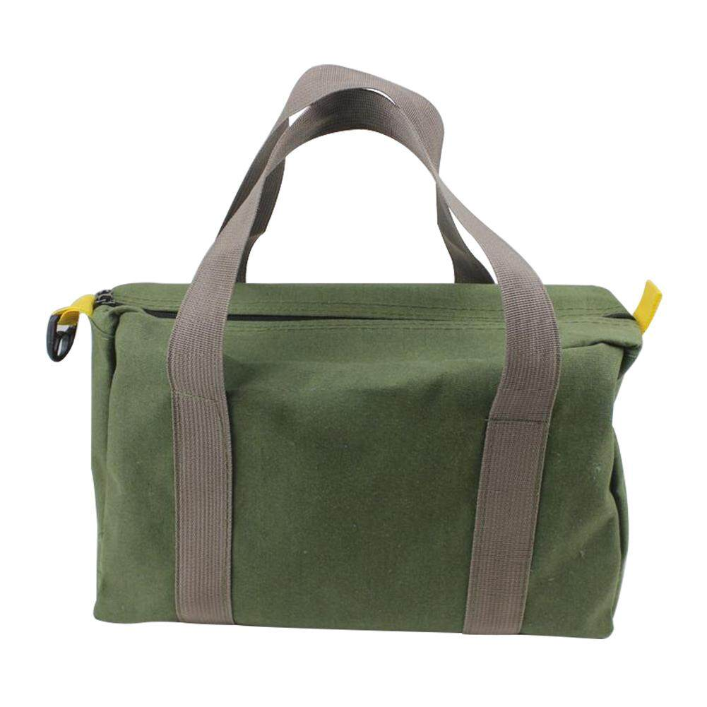 With Handle Storage High Capacity Canvas Waterproof Wear Resistant Green Portable Multifunction Tool Bag