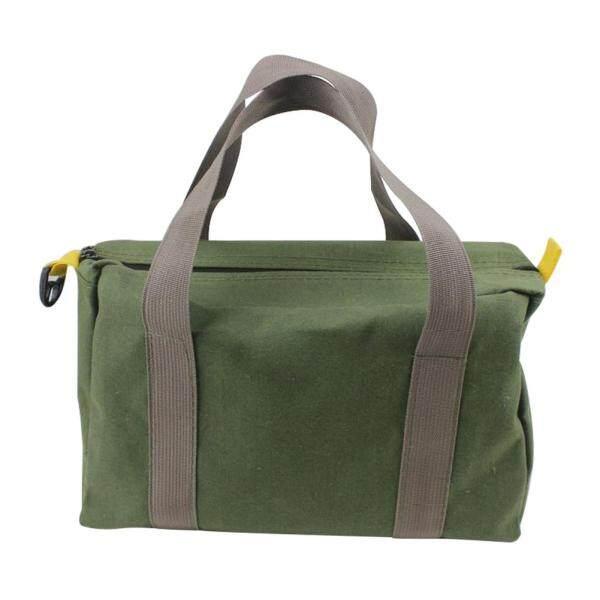 With Handle Storage High Capacity Canvas Waterproof Wear Resistant Green Portable Multifunction Tool Bag