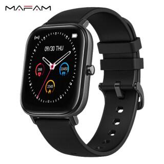 MAFAM 2021 P8SE Đồng hồ thông minh cảm ứng toàn bộ màn hình 1.4inch có thể theo dõi sức khỏe nhịp tim kết hợp GTS dùng cho điện thoại Xiaomi Huawei Samsung Realme IPhone - INTL thumbnail