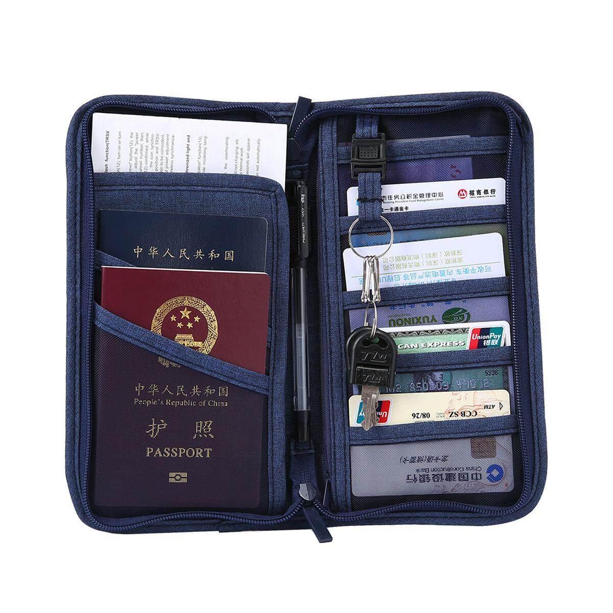 ed0d7a3dc64 efuture Travel Wallet Multi-functional Passport Holder Travel Card  Organiser Pouch Storage Bag For Smart