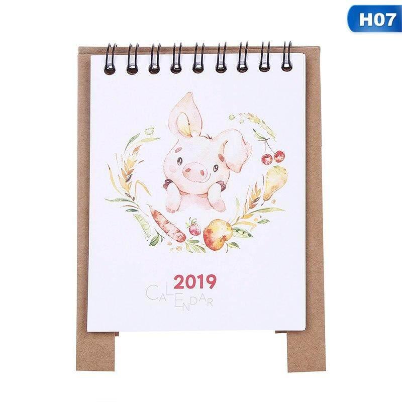 Office & School Supplies Calendar 2019 Plan Gifts Home Paper Decoration Vertical Multifunction Office Notebook Timetable Kawaii Cartoon Desk Calendar Non-Ironing