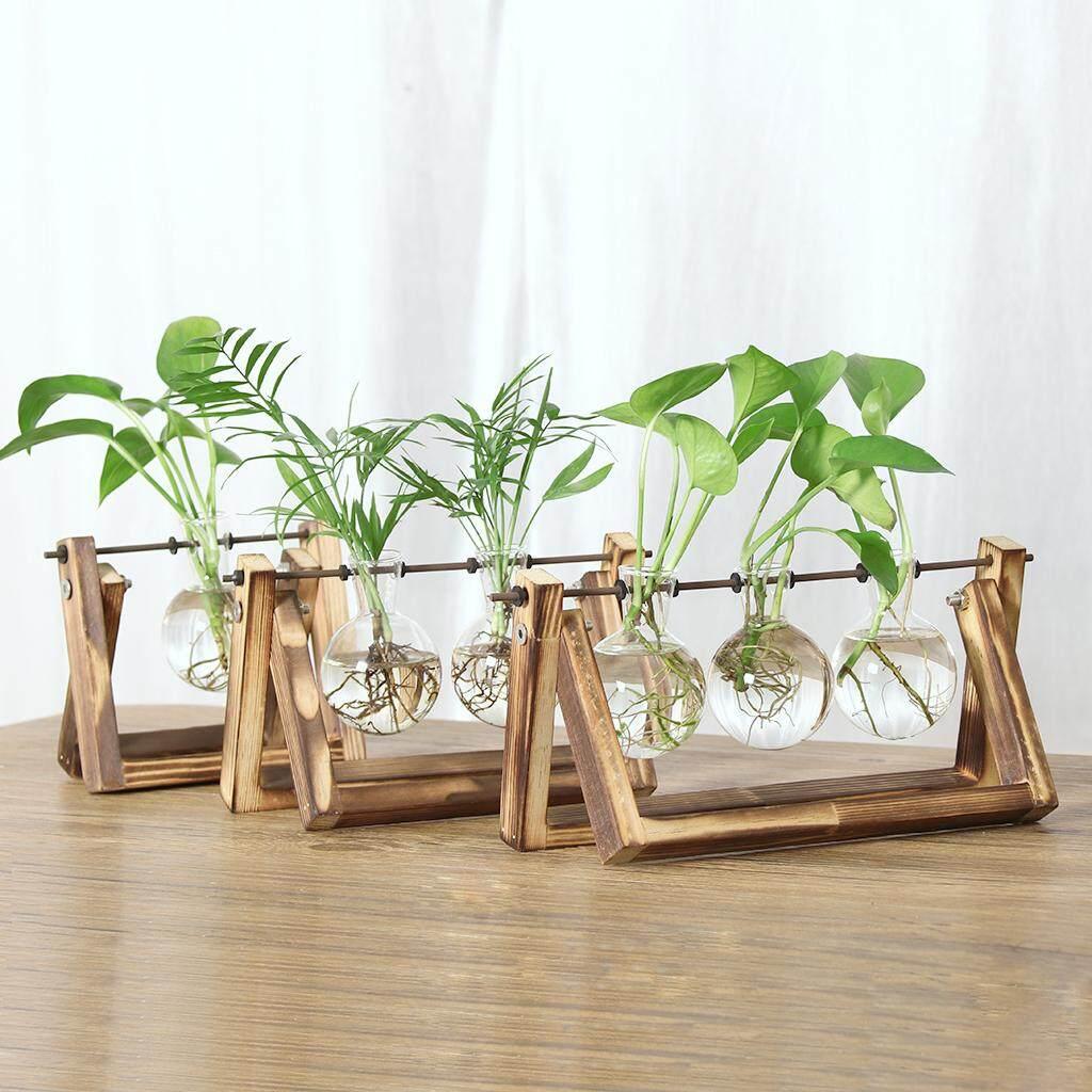 Perfk 6 Pieces Clear Glass Ball Flower Hydroponic Vase Landscape Bottle Terrarium Pot