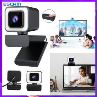 ESCAM, Camera Máy Tính Xách Tay USB 2K HD, Webcam Hội Nghị Video Phát Trực Tiếp Có Micro Đèn Vòng, Webcam Cho Pc thumbnail