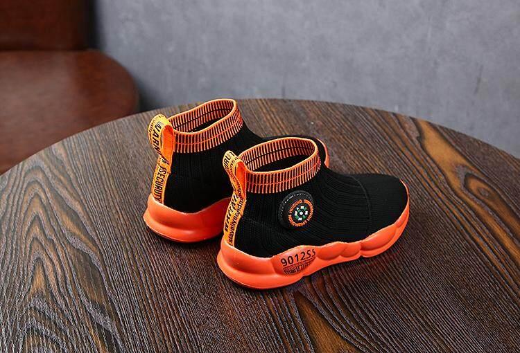 Giá bán Bé trai Giày Hàn Quốc Thời Trang Giày Bé Trai và Bé Gái Học Sinh Đế Mềm Thoáng Khí Đan Lưới Tất Giày