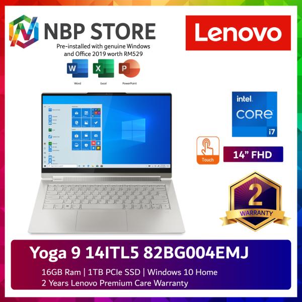 Lenovo Yoga 9 14ITL5 82BG004EMJ 14 FHD Touch Laptop Mica ( i7-1185G7, 16GB, 1TB SSD, Intel, W10, HS ) Malaysia