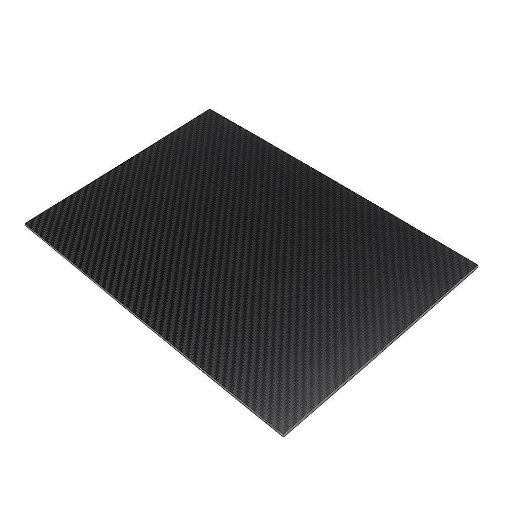 200X300mm 3K Carbon Fiber Board Carbon Fiber Plate Plain Weave Matte Panel Sheet 0.5-5mm Thickness-1mm