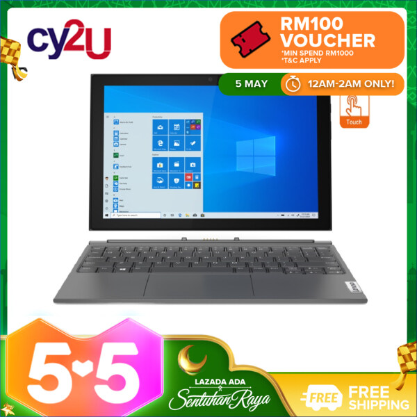 Lenovo IdeaPad Duet 3 10IGL5 82AT00A3MJ 10.3 WUXGA Touch Laptop - Graphite Grey (Intel Pentium N5030, 8GB RAM, 256GB SSD, Intel UHD Graphics, Win10) Malaysia