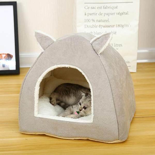 SC Lều Tổ Thảm Đáng Yêu Hình Dạng Tai Ấm Ngủ cho Mèo Cưng Vật Dụng