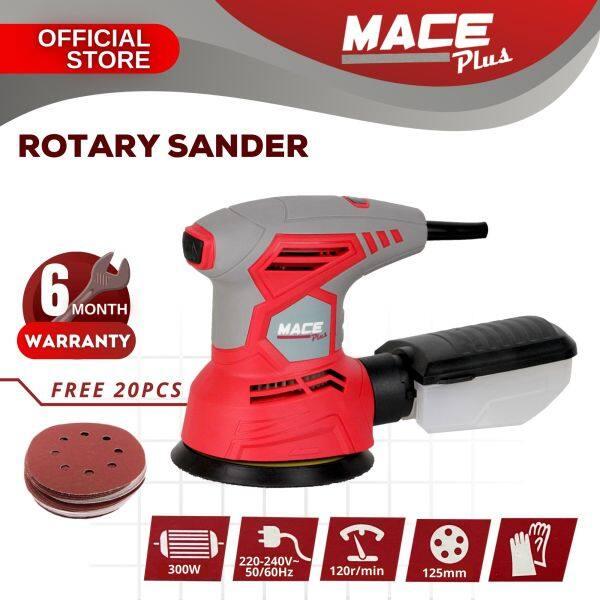 Mace Plus MT-RS300 300W Rotary Sander 125mm Sanding Tool Finishing Polisher Machine FOC 20pcs Sanding Paper