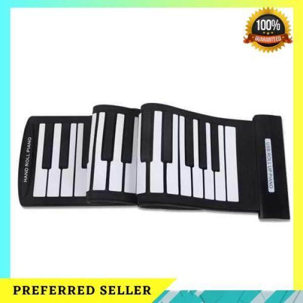 [LAZCHOICE] Portable 61 Keys Flexible Roll-Up Piano USB MIDI Electronic Keyboard Hand Roll Piano Malaysia