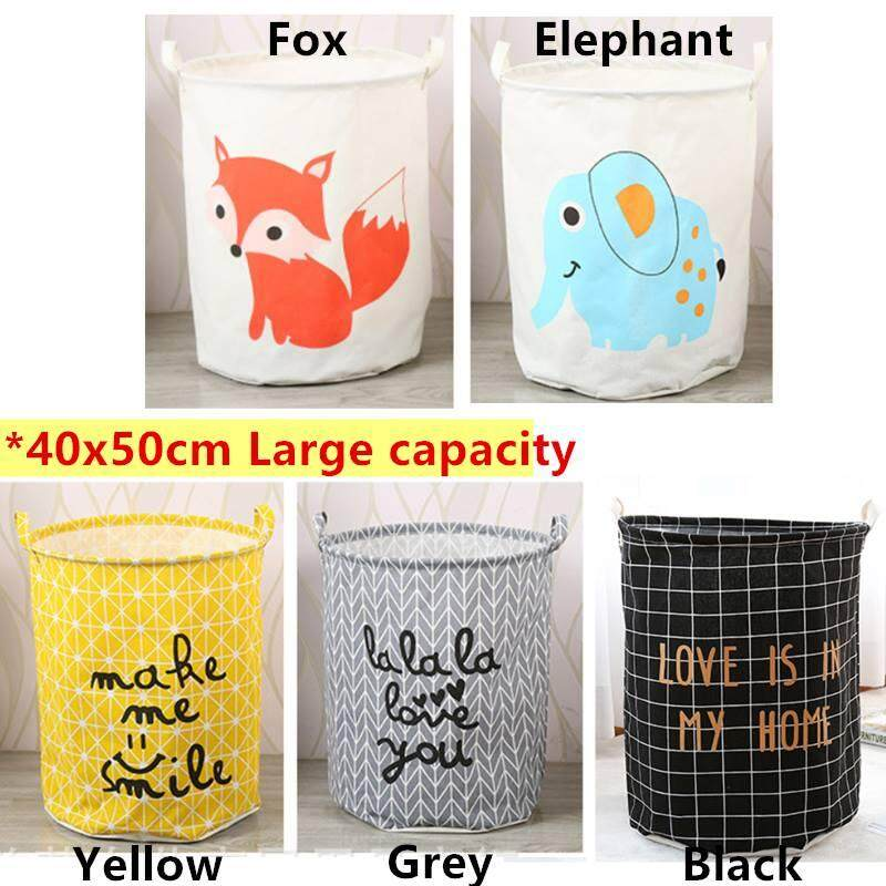Foldable Large Clothes Toy Storage Box Waterproof Laundry Bucket By Blisshome Online Shop.