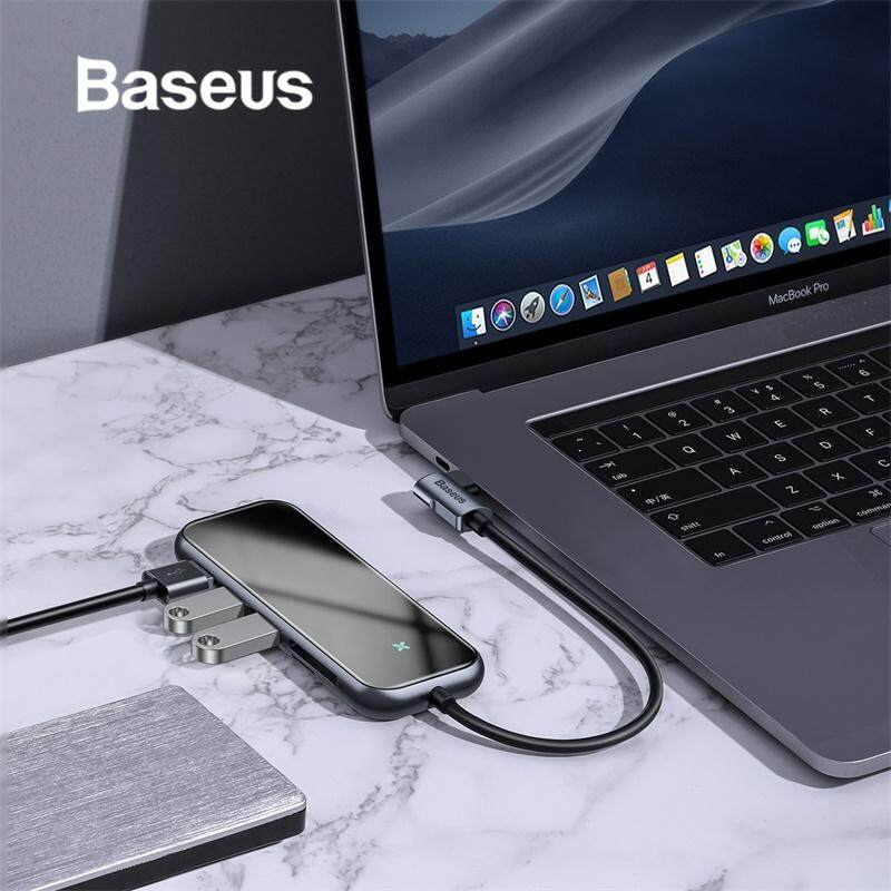 Baseus Multi USB C HUB with Card Reader for Macbook Pro Type C to HDMI 3 USB 3.0 HUB for Surface Computer PC Accessory