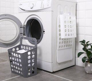 Quần Áo Bẩn, Giỏ Đựng Đồ Giặt Gấp Được Quần Áo Bẩn Treo Tường Gấp Gọn Không Đục Lỗ Vật Dụng Phòng Tắm Hamper thumbnail
