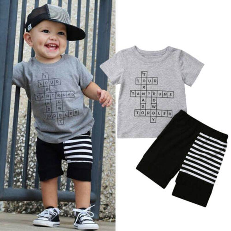 Boys' Clothing Smart Baby Boys Clothes Set Summer Clothes T-shirt For Boy Children Clothing Sets For Boy Short Sleeve Shirts Beach Shorts Sports Mother & Kids