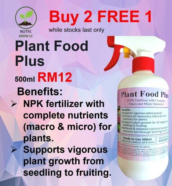 Plant Food Plus NPK Fertilizer with Complete  Macro and Micro Nutrients