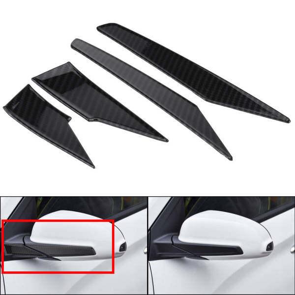 Gương Chiếu Hậu Mouldings Strips Bìa Trim Side Gương Strips Bìa Cho Hyundai Encino Kauai Kona 17-20 SUV Đen Mô Hình Sợi Carbon