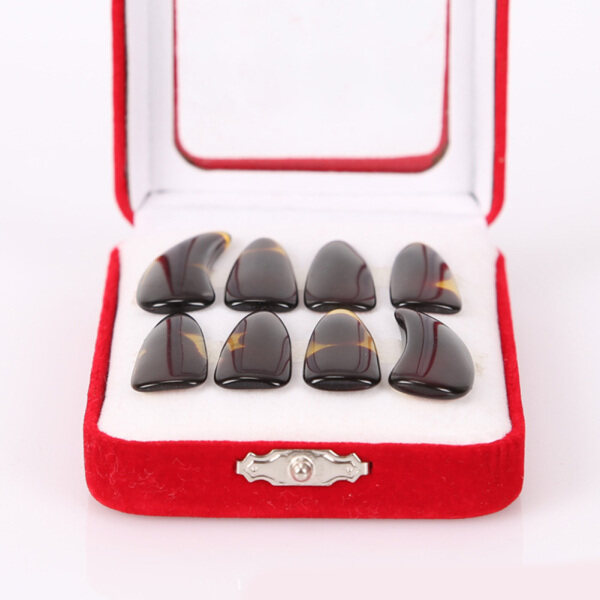Yixun Guzheng Nail Set Professional Grooves for Adult Children Celluloid Finger Suit Specification:M Malaysia