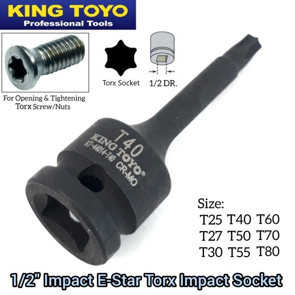 King Toyo 1/2 Inch Impact E Star Torque Torx Impact Box Socket For Automotive Car And Machinery