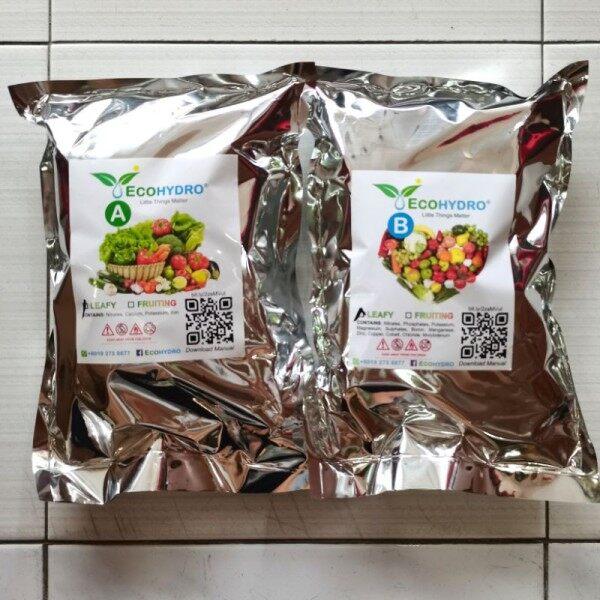 25kg Baja AB Fertilizer for Leafy Vegetables / Chili Cili / Rock Melon / Timun Cucumber / Tomato Baja AB NPK Fertigasi Hydroponic Nutrients Solution DIY Dry Crystal Powder EcoHydro Hidroponik 肥料 营养液