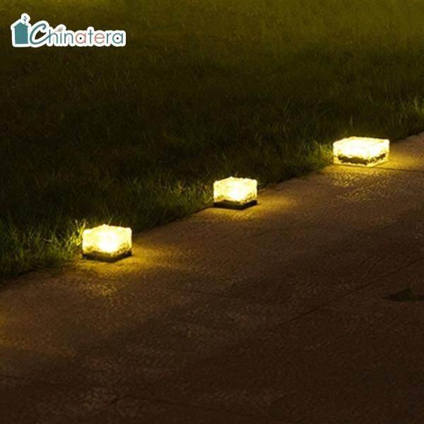 [Chinatera] 1/3 Cái 4 Đèn LED Sáng Tạo Thanh Lịch Đèn Chôn Dưới Đất Ngoài Trời Lối Đi Trong Vườn Bãi Cỏ Dưới Lòng Đất Đèn Chiếu Sáng Màu Trắng Ấm