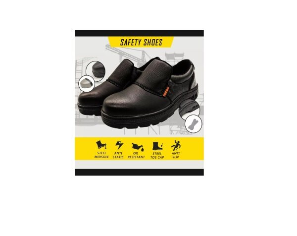 🔥 SAFETY SHOES LOW CUT 100% High Quality Black Steel Toe Safety Shoes Footwear 🥾 WOMEN / MAN