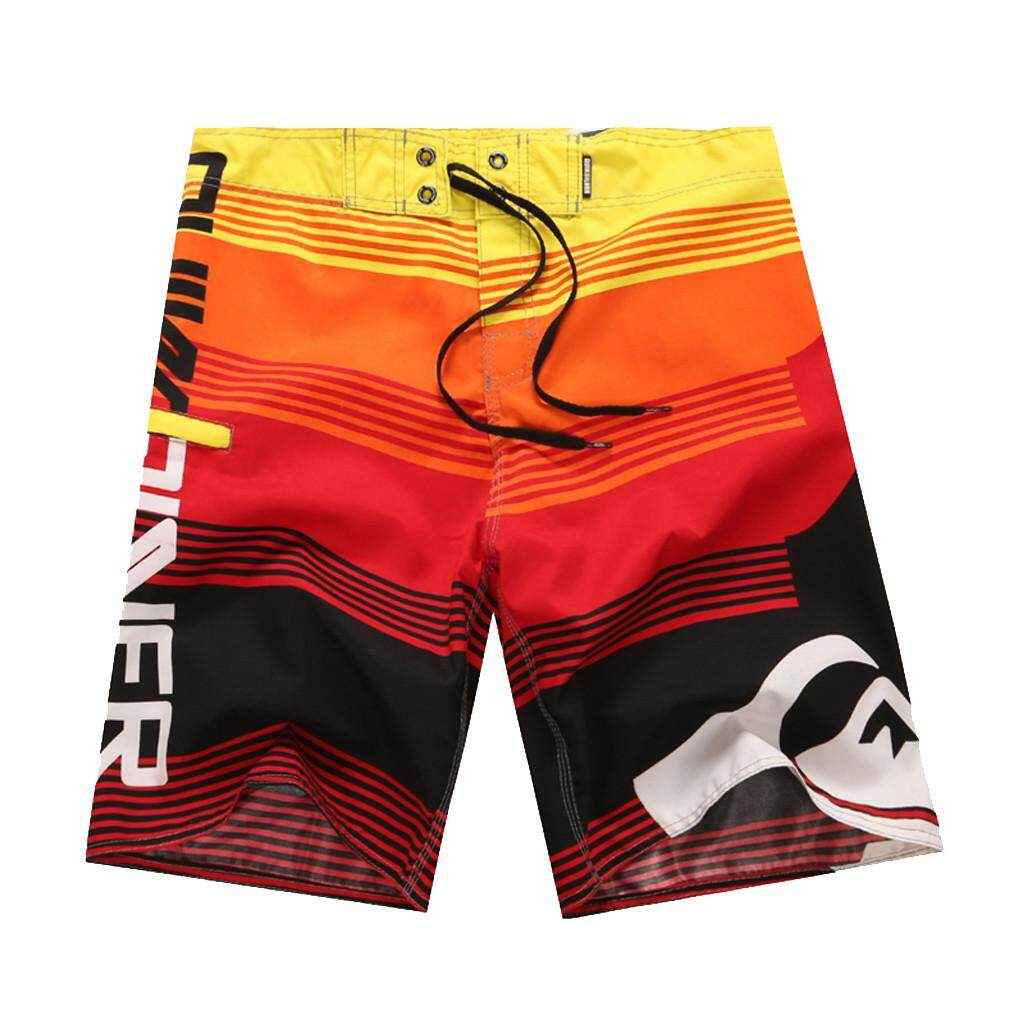 Mobilone Mens Fashion Casual Printing Patchwork Beach Surfing Swimming Loose Short Pants By Mobilone.
