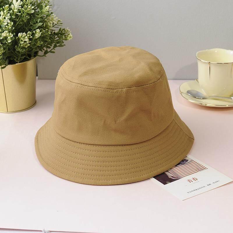 ff6a2ef3 Solid Color Women Summer Bucket Hat Outdoor Fisherman Panama Cap For Men  Unisex Cotton Hip Hop