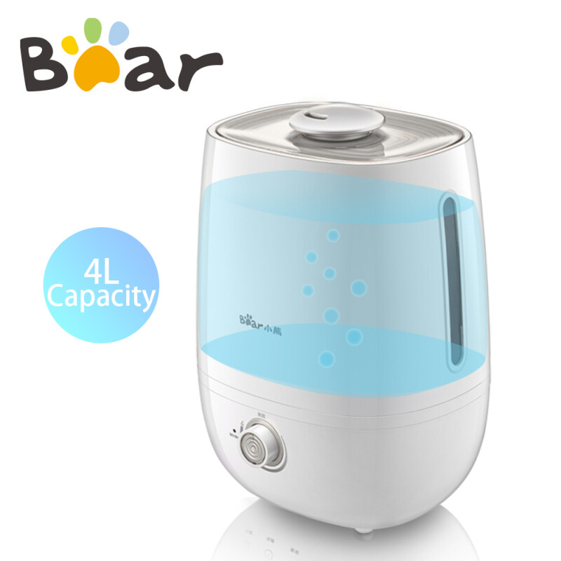 Bear Home Mini Air Humidifier 4L Bedroom Office White JSQ-A40G3 Singapore