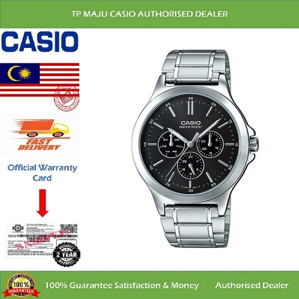 [PRE-ORDER] CASIO MTP-V300D Analog Men's Casual Formal Luxury Watch Water Resistant Black Dial Multi Hands & Stainless Steel Band for Men - MTP-V300D-1AUDF ( Official 2 Years Warranty ) Courier in 7 days (ETA: 2021-09-24) Malaysia