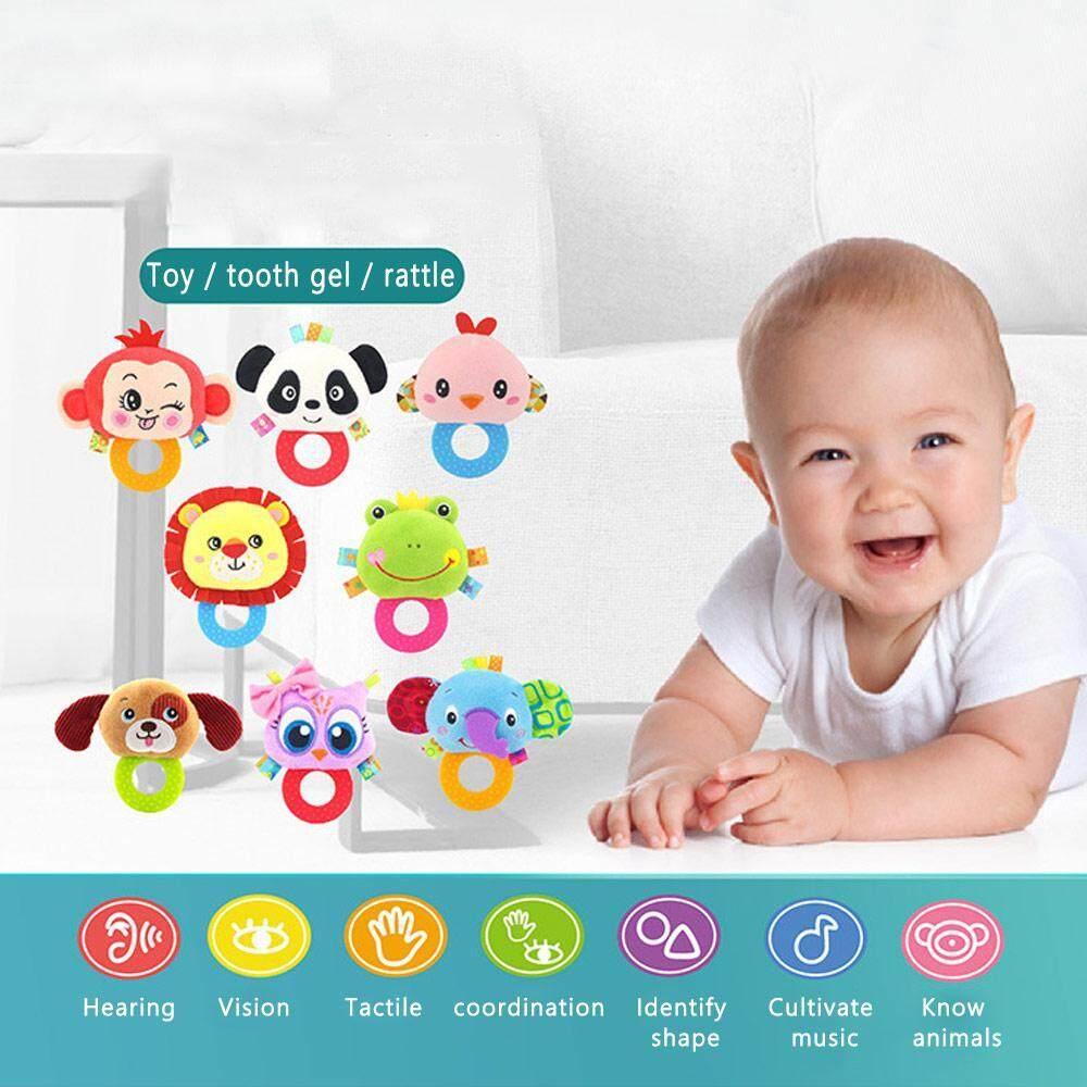 Image 5 for OutFlety เครื่องเล่นที่เขย่าแล้วมีเสียงสำหรับเด็กแรกเกิดกระดิ่งของเล่นเด็กวัยหัดเดินทารกแหวน Interactive น่ารักการ์ตูนสัตว์ของเล่นตุ๊กตาการศึกษาช่วงต้นของทารกของขวัญ