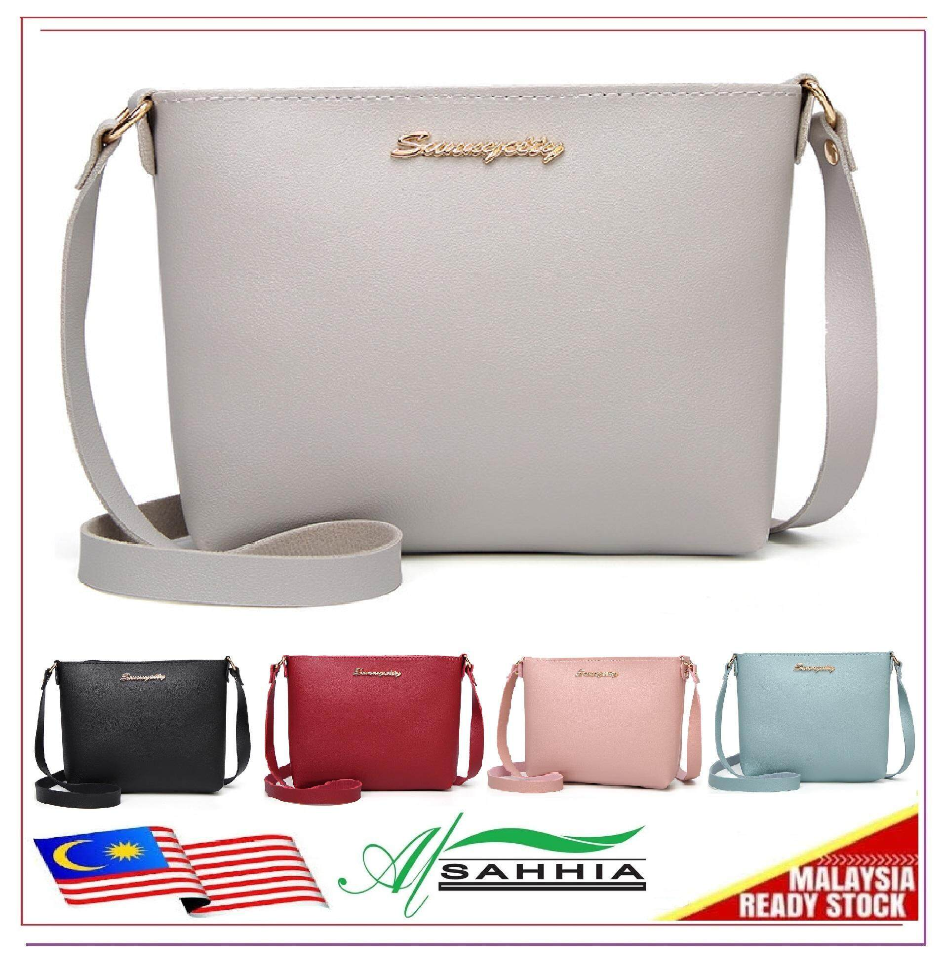 6837f9743c Al Sahhia Ready Stock Single Zip Sunny City Sling Shoulder Handbag