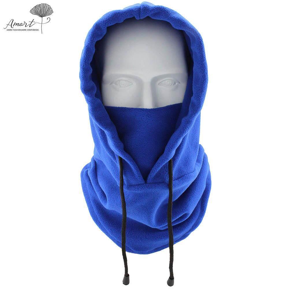 Amart Fashion Ninja Masker Wajah Salju Windproof Ski Musim Dingin Topi Tali Topi Olahraga