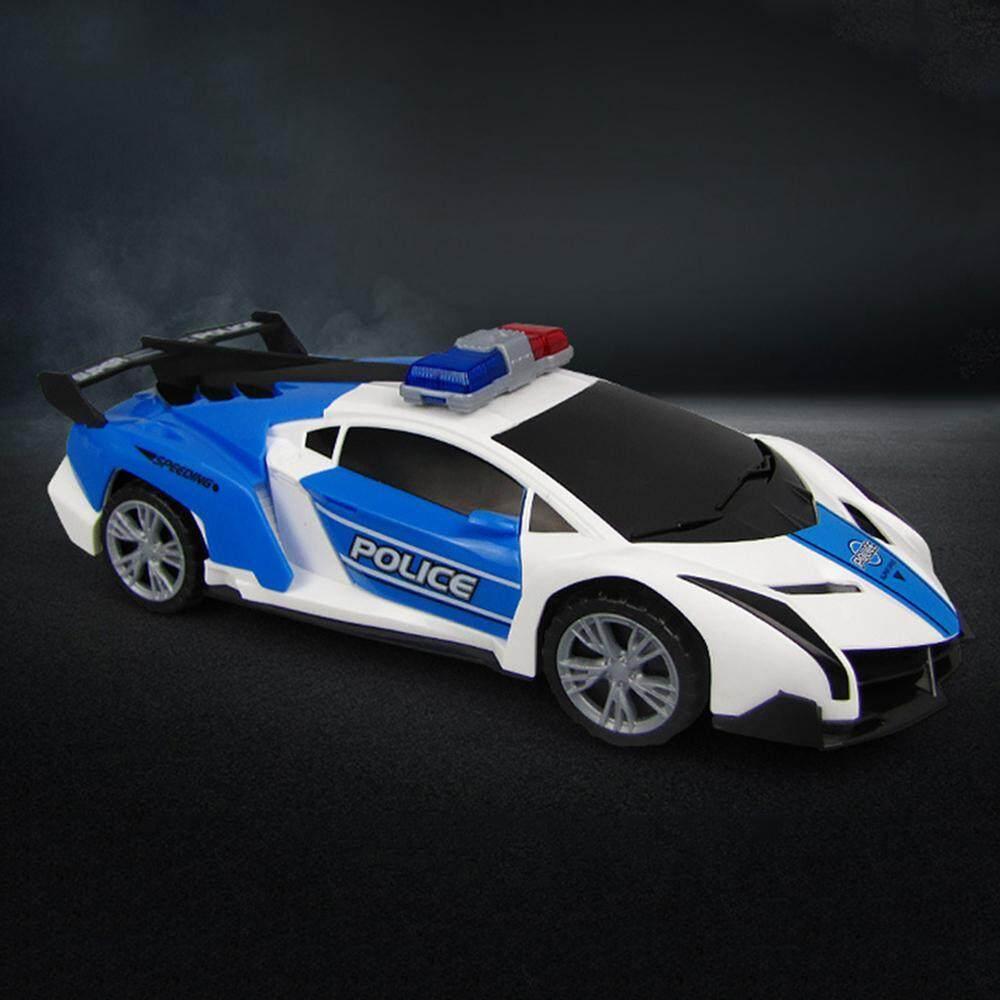 GoodGreat Mini Cartoon Deformation Police car Electric Automatic  Deformation Lifting 360 Degree Rotating Speed car Light Music Universal  Wheel Robots