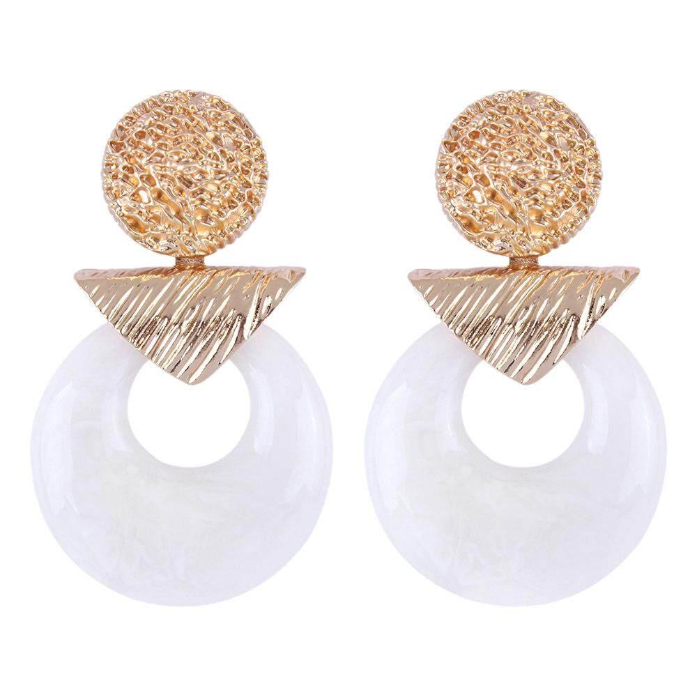 64c1dbdafb49 Acrylic Big Circle Drop Earrings Geometric Dangle Earrings Bohemian  Handmade Statement Earring Party Jewelry Accessories