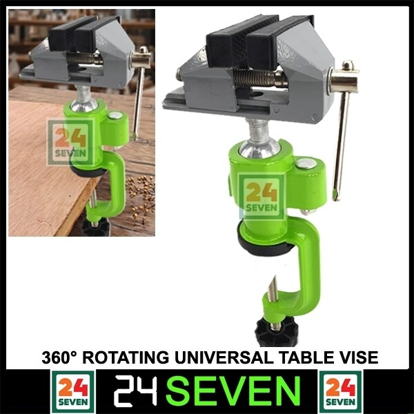 [ READY STOCK ] Universal Vise 360 Degree Rotating Table Bench Vice Swivel 3 / Table Vice Tilts Rotate 360 Degree Universal Work / 360° Bench Clamp Vises Universal DIY Bench Vise Swivel Tabletop Clamp Grinder Holder