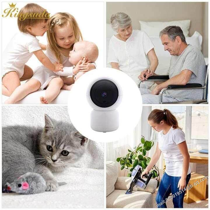 Kingsuda Wifi IP Camera Wireless WiFi Camera Multifunctional Cute Full HD 1080P Infrared Tracking Automatically Baby Monitor