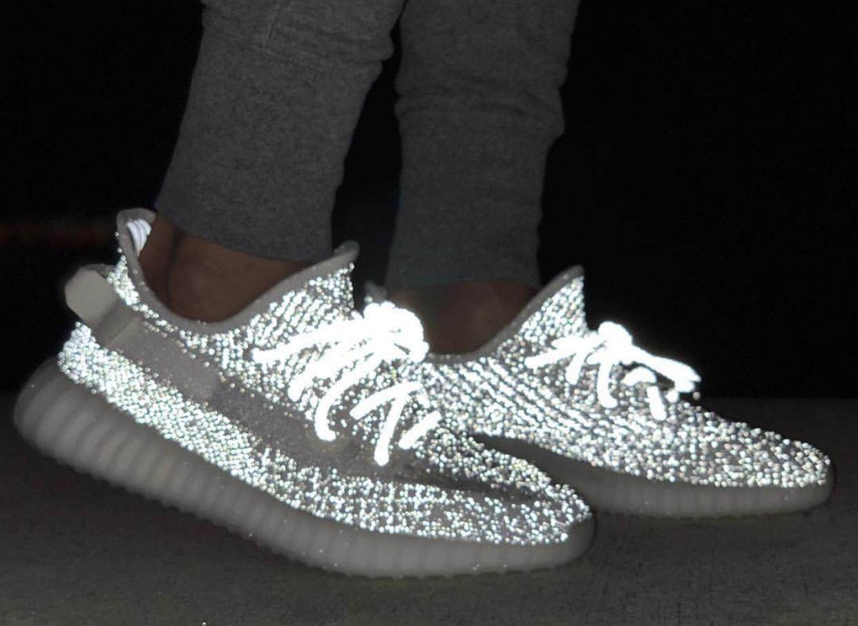 new products 67613 38121 Original Adidas_ Yeezy Boost 350 V2 Static 3M Reflective running shoes