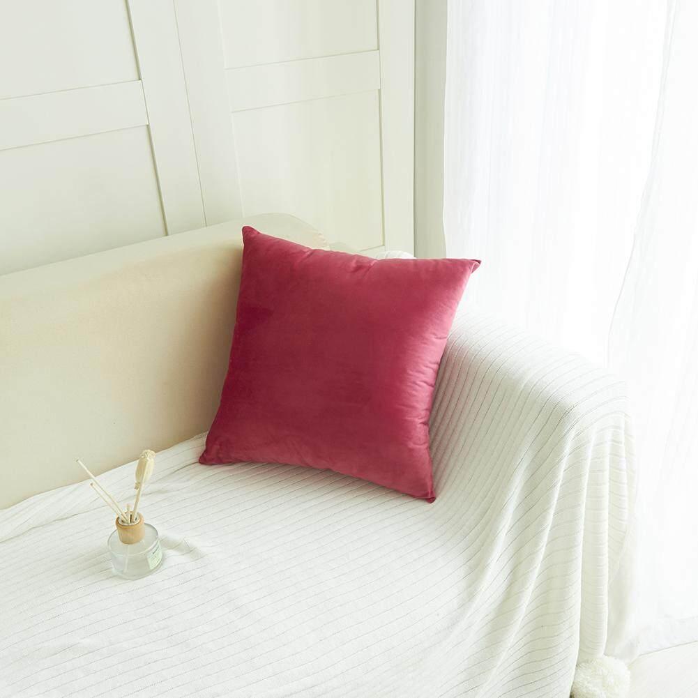 Yg Lembut Warna Polos Lembut Pendek Penutup Bantal untuk Dekorasi Sofa