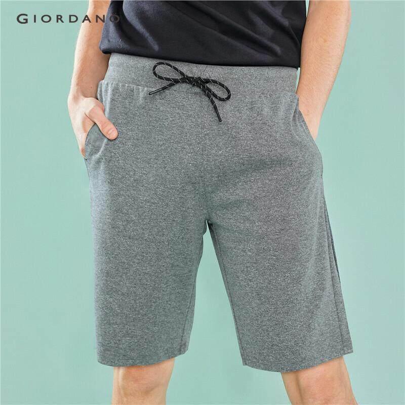 0114321184 Giordano Men Shorts Bermudas Short Pants Men's Sport Clothing Solid Elastic  Waist Drawstring G-Motion