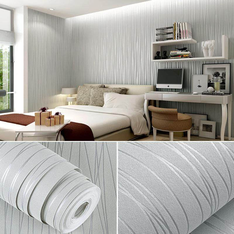 5M 3D Self adhesive Waterproof Wallpaper Non Woven Fabric Home Decor For Living Room Bedroom Background Wall Stickers