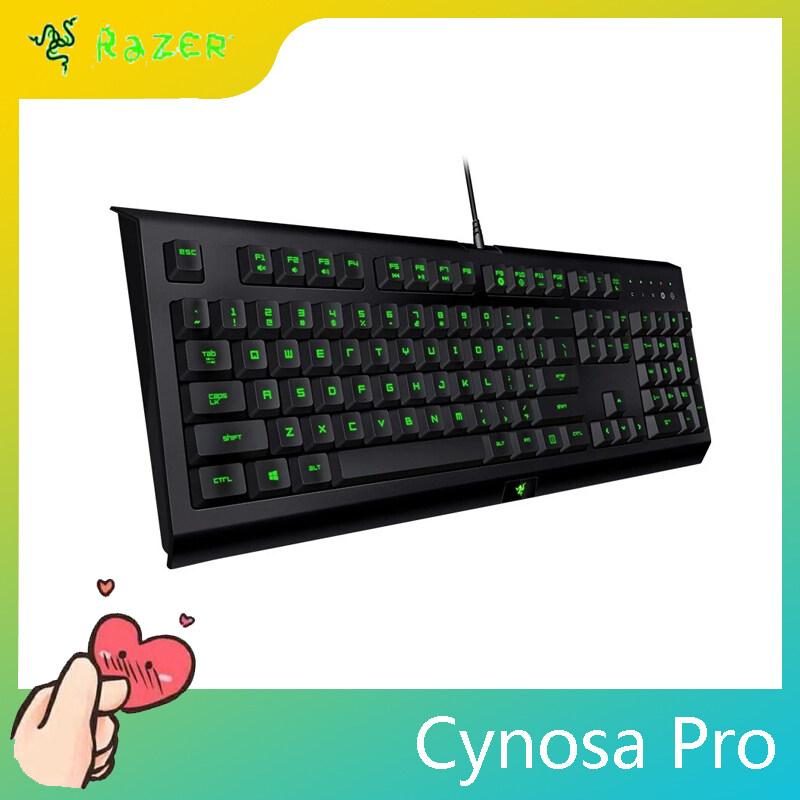 Razer Cynosa Pro Gaming Keyboard Cable Backlit Membrane Keyboard for Gaming Macro Recording Programmable Keys 104 Keys for Laptop sanuolangzhu-zyb Singapore