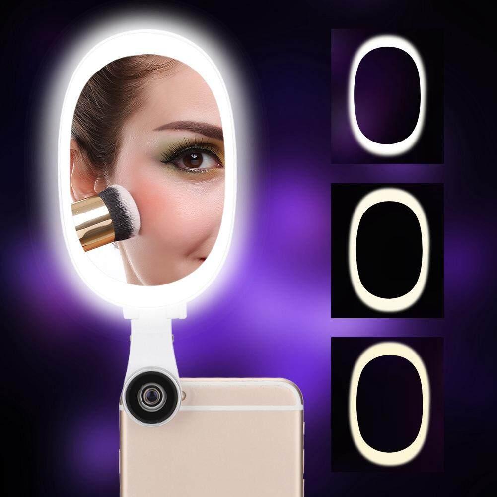 Di động 60 Đèn Đính Hạt Selfie LED Di Động Điện Thoại Selfie Đèn Dạ Quang Kẹp Đèn + Ống Kính
