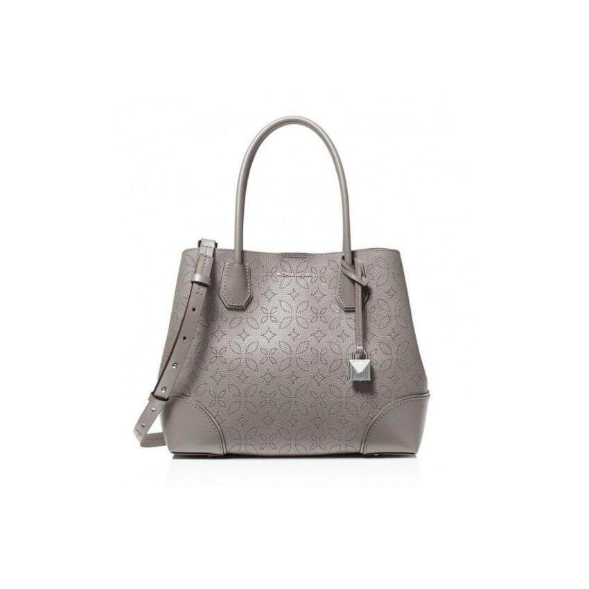 cb913667d2ee MICHAEL KORS Michael Kors Mercer Gallery Perforated Floral Tote Medium - Pearl  Grey 30H8SZ5T6T-081