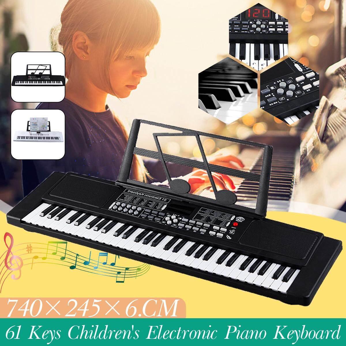 61 Phím Đàn Piano Điện Tử Âm Nhạc Điện Bàn Phím Màn Hình Hiển Thị LCD USB Đầu Vào Với Micro/Âm Nhạc Đứng Quà Tặng Cho Trẻ Em