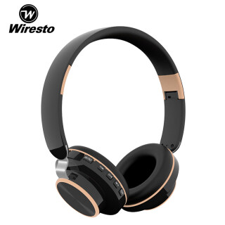 Wiresto Over the Ear Headphone Wireless Foldable Headset FM Earphones Bluetooth 5.0 Headphone Stereo Headset Noise Reduction Headphone Fold-able Design Wired Wireless Stereo Headband Support TF Card thumbnail