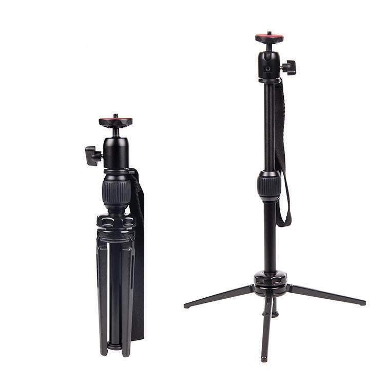 Cambofoto M5S Portable Aluminum Compact Selfie Sticks Mini Table Tripod for Mobile Phone Camera