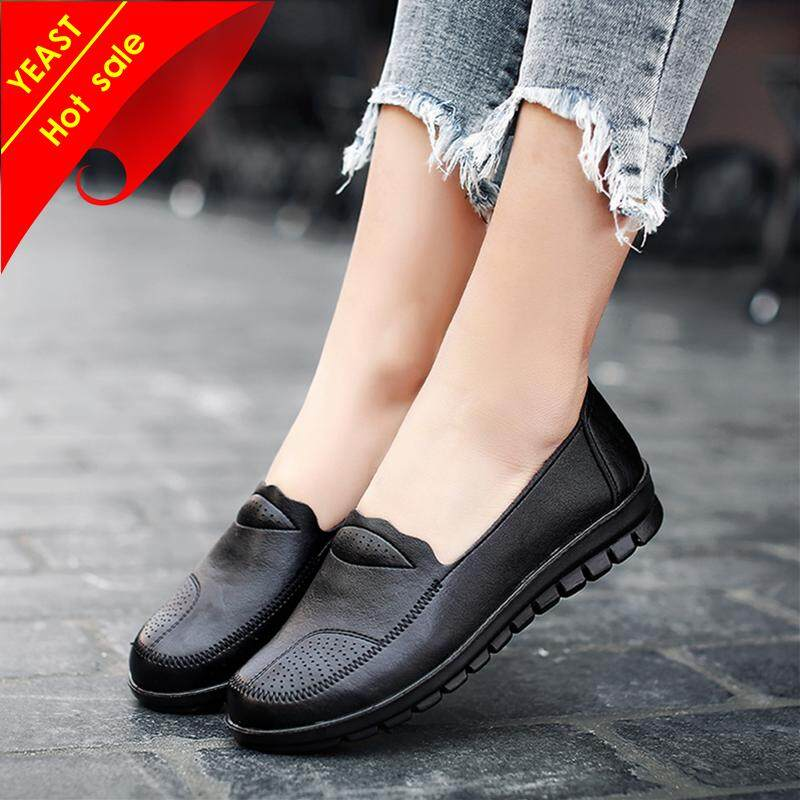 db72a32976102 YEAST PU Light Shoes Women Leather Shoes Casual Shoes For Women Casual Flat Shoes  Ladies Shoes
