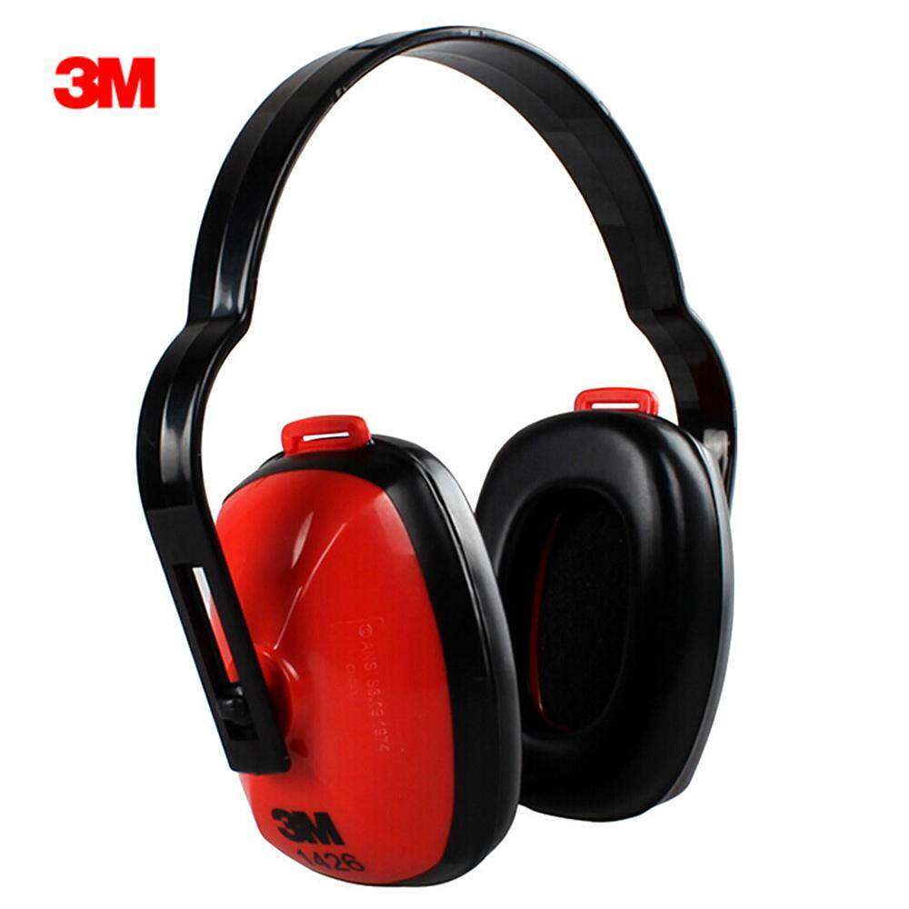 1Pc 3M 1426 Soundproof Earmuffs Noise Reduction Earmuffs 27dB SNR Comfortable for Sleeping Work Travel & Loud Events Soundproof with Adjustable Headband